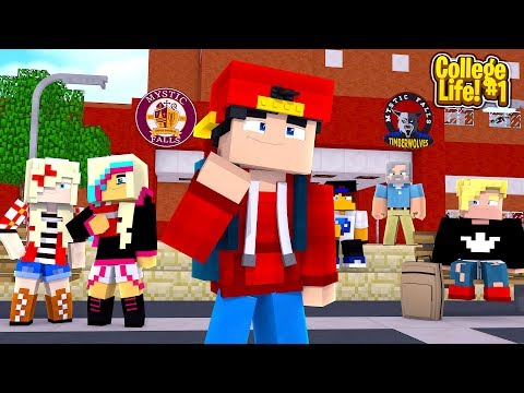 Minecraft COLLEGE LIFE - MY FIRST DAY AT COLLEGE!!