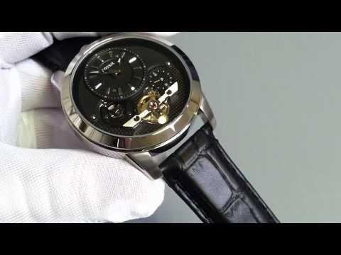 Men's Black Fossil Grant Twist Automatic Watch ME1113