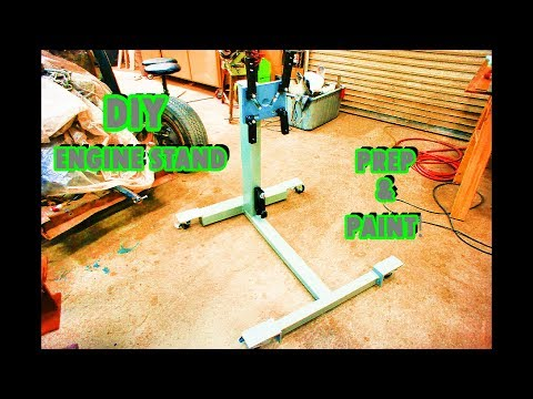 DIY geared Engine stand: paint and assembly