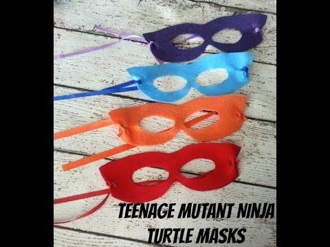 DIY Teenage Mutant Ninja Turtle Masks