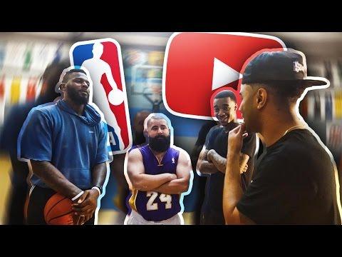 YOUTUBERS VS NBA PLAYERS!! INTENSE 2V2 BATTLE!! LOSER HAS TO A WEAR ROMPER & DRESS IN DRAG!!!