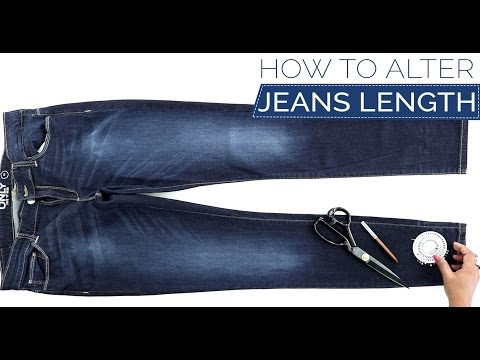 Class 33 - How to alter your Jeans length keeping the original hem - DIY