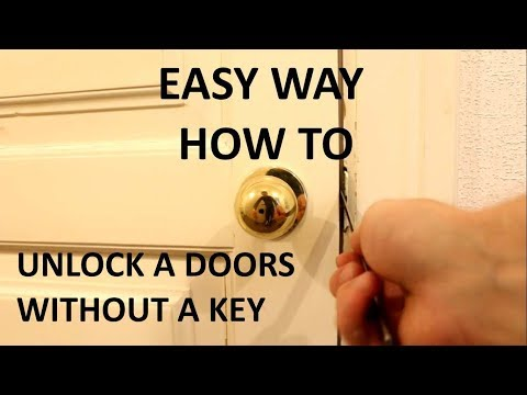 EASY WAY how to unlock a knob doors without a key