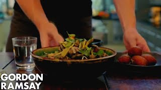 Spicy Clam Noodle Soup and Banana & Coconut Fritters - Gordon Ramsay