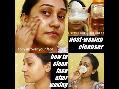 How To:Clean Your Face After Waxing Post Waxing Cleanser DIY BeautyBook