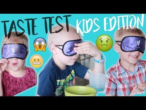 BLIND TASTE TEST | KIDS EDITION