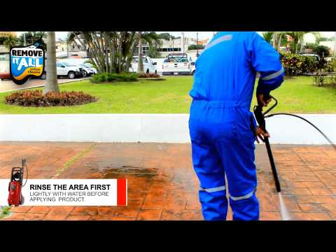 Clean brick pavers fast and easily with Remove it ALL Urban Cleaner