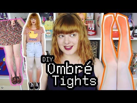 DIY Ombre Tights | Make Thrift Buy #34