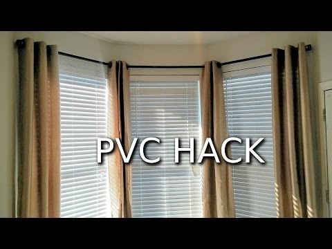 How to make PVC curtain rods