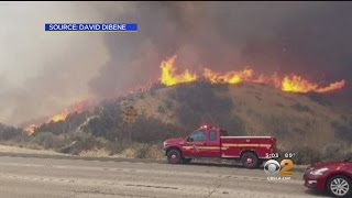 Homes Threatened As Brush Fire In Santa Clarita Grows To 850-Plus Acres