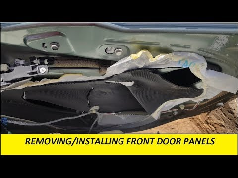 2008 (8th Gen) Honda Accord Front Door Panel Removal/Installation.