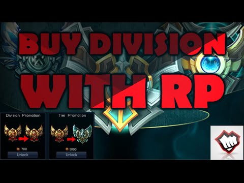 BUY DIVISION/ELO WITH RP - New League of Legends Feature