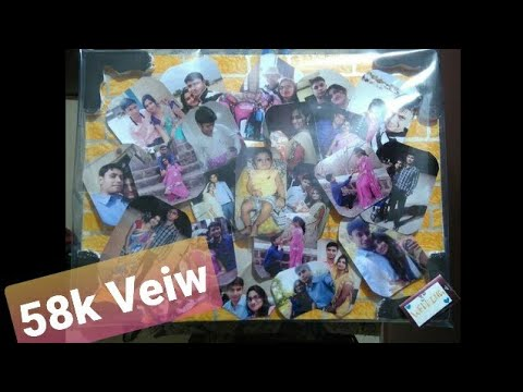 HOW TO MAKE LOVELY PHOTO COLLAGE FRAME IN FEW STEP l WITH THERMOCOL AT HOME l #4