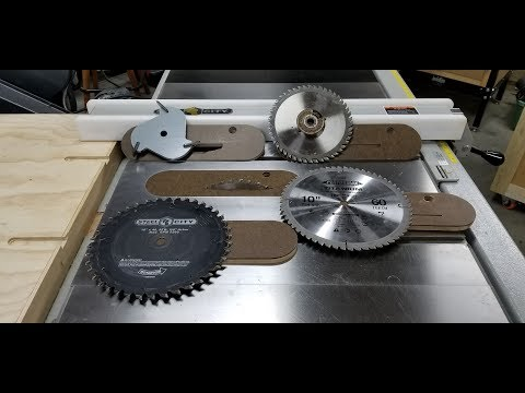 CUSTOM Zero Clearance Table Saw Inserts Part 1