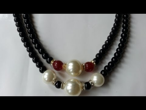 How To Make Simple Mixed Bead Necklace - DIY Crafts Tutorial - Guidecentral