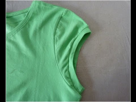 How to make t-shirt sleeves into cap sleeves