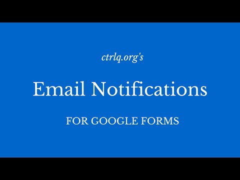 Send Confirmation Emails with Google Forms