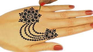 Ornamental Jewellery Mehndi Design For Hands | Easy Mehndi Design for Hands for Navratri #75