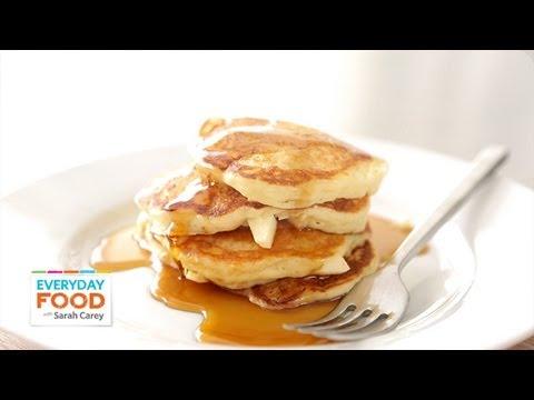 Apple-Buttermilk Pancakes - Everyday Food with Sarah Carey