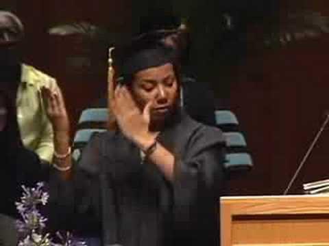WGU Graduate Speech in American Sign Language