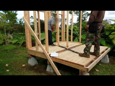 Off Grid Bathroom Project Part 2 - Deck and wall framing