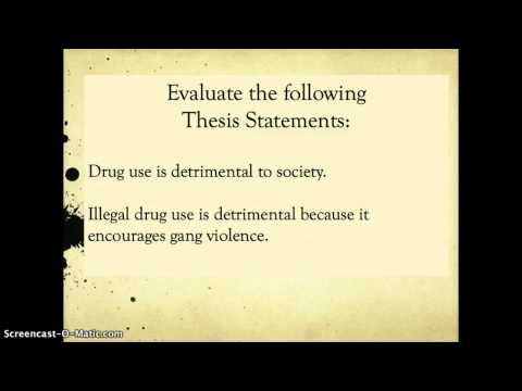 Topic Sentences vs. Thesis Statements
