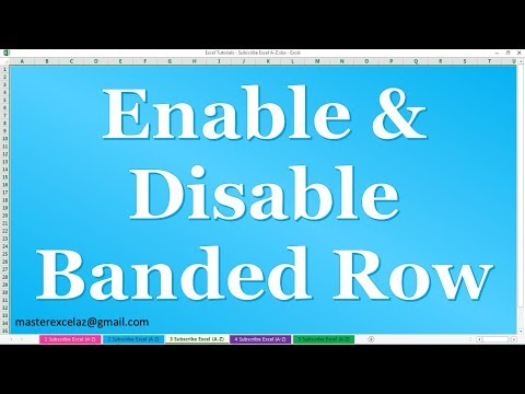 How to Enable & Disable Banded Row for Table in MS Excel 2016