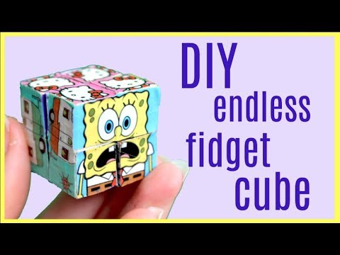 DIY Endless Infinity Fidget Cube! Magic Folding Duct tape Cube