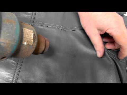 Sticky Name Tag Problem on Leather Jacket
