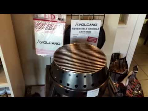 Volcano All In One Charcoal Wood and LP BBQ Grill