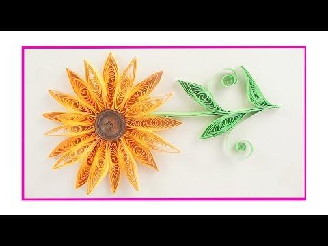Quilling Paper Art - DIY Sunflower - TCraft