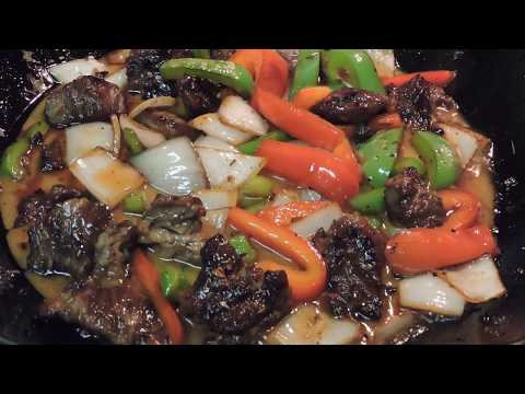 Pepper Steak | How to make Steak with peppers and Onions Stir Fry
