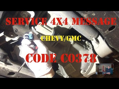 Chevy GMC Code C0378 Service 4X4 Message