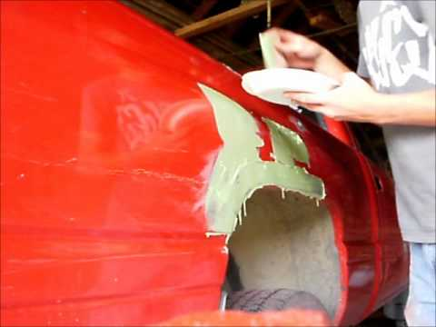 how to pull, bondo, sand, and primer dents (part 2)