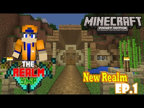 Minecraft PE (Pocket Edition) Realms SMP - Ep.1 : We have to work with it again