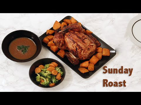 Roast Dinner | Rosemary & Orange Chicken with Crispy Sweet Potatoes.