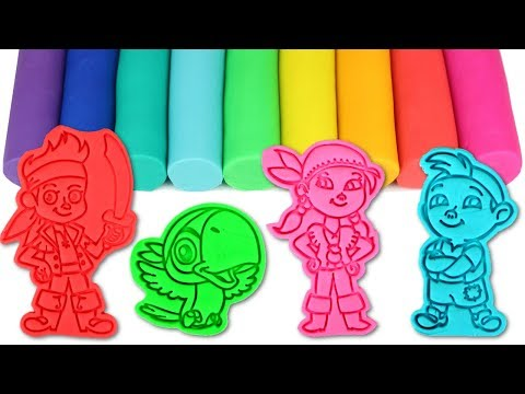 Jake and the Neverland Pirates Play Doh Molds & Surprise Toys with Jake Izzy Captain Hook Tik Tok