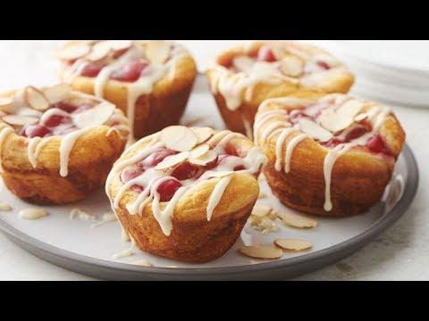 3-Ingredient Cherry-Almond Pie Cups | Pillsbury Recipe