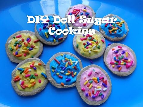 Doll Cookies Tutorial - How to Make Doll Frosted Sugar Cookies with Sprinkles