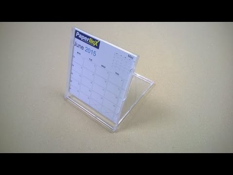 Calendar In Clear Case By Create-This Limited