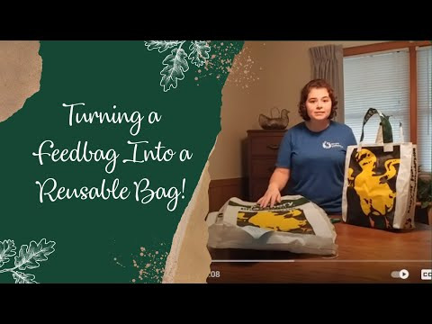 How to Turn a Feed Bag into a Reusable Shopping Bag