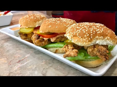 Homemade Delicious Chicken Zinger Burgers in English with Raihana's Cuisines