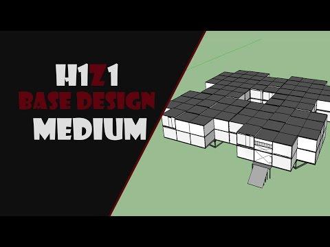 H1Z1 Base Design  !! MEDIUM !! [H1Z1] (Sketchup)