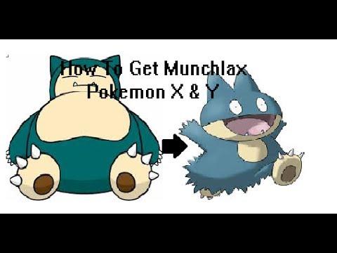 Pokémon X & Y- How to get Munchlax