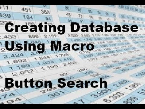 Microsoft Excel Create a Professional Database Using Macro Option - Urdu/Hindi