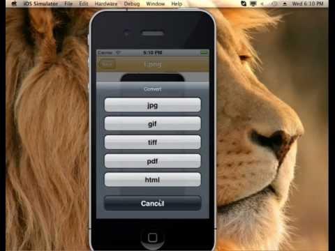 iFileConverter iPhone App