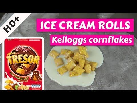 ICE CREAM ROLLS + KELLOGGS CORNFLAKES *OMG*