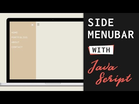 Side Navigation Bar Push Off Canvas with HTML, CSS and Javascript