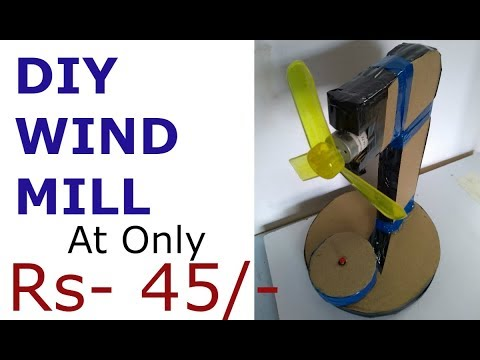 Easy Diy Windmill with cardboard at home with ease....!!!