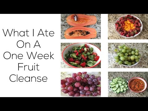 What I Ate On A One Week Fruit Cleanse